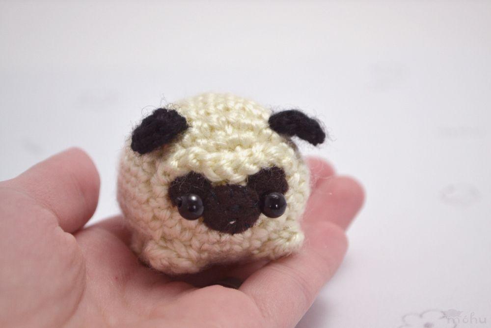 crochet pug amigurumi plushie   mohu   Felt patterns   Pinterest ...