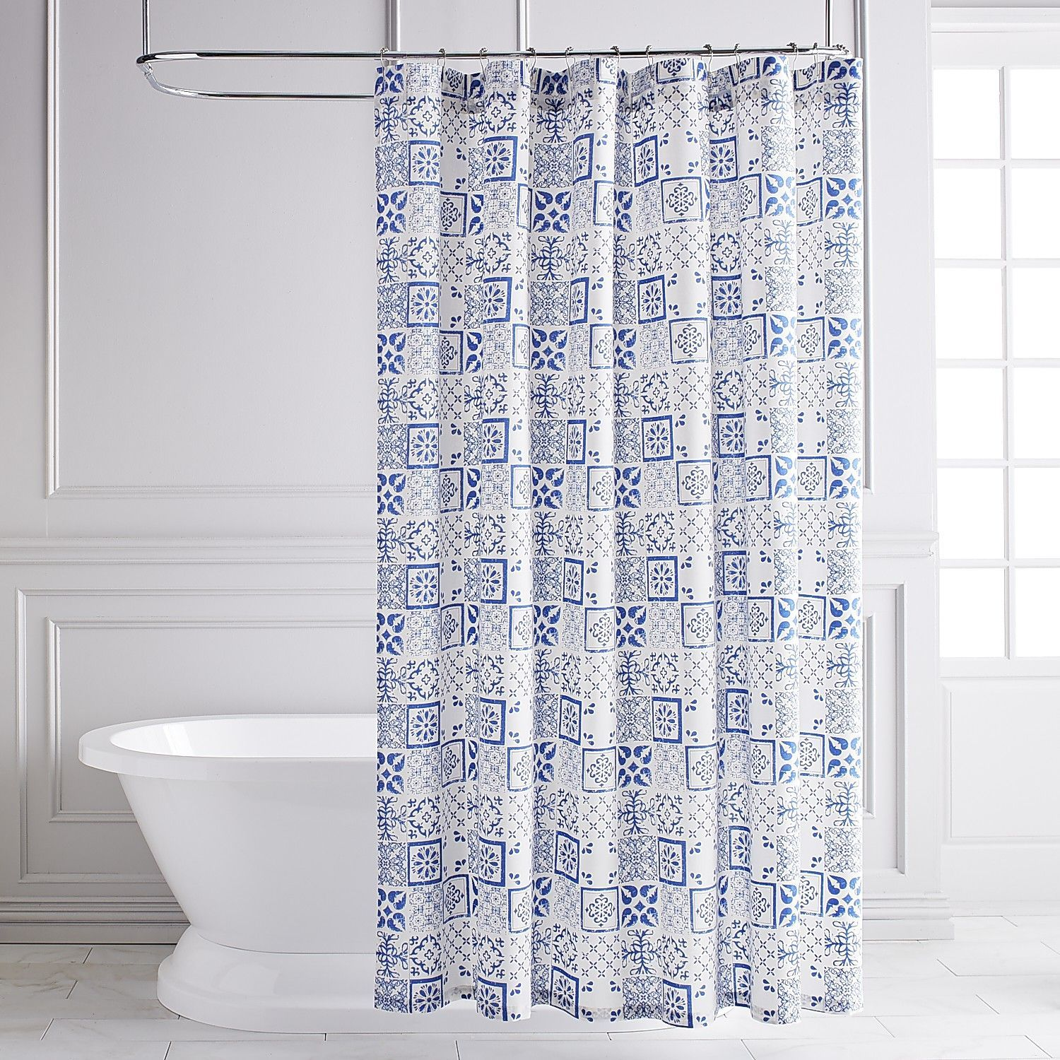 Azule Tile Shower Curtain | Tile showers and Products