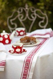 Glass Cloth Table Runner - Red