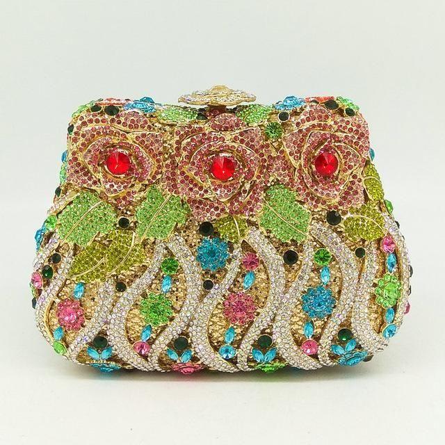 Women Crystal Evening Clutch Bag Bridal Diamond Clutch Clutch