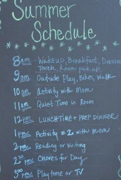 How to Make a Summer Schedule for Kids Plus activities for summer- do chores and reading earlier to get them out of the way before play #summerschedule How to Make a Summer Schedule for Kids Plus activities for summer- do chores and reading earlier to get them out of the way before play #summerschedule