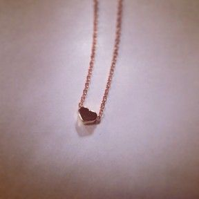 Rose Gold Tiny Heart Necklace by Sunray Jewels on Opensky