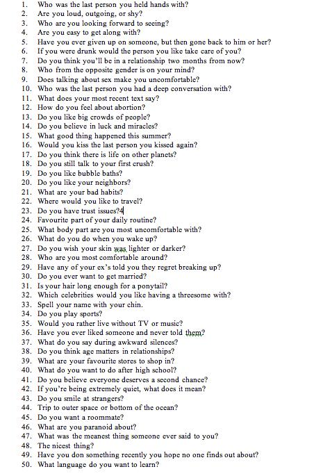 100 gute fragen zum kennenlernen