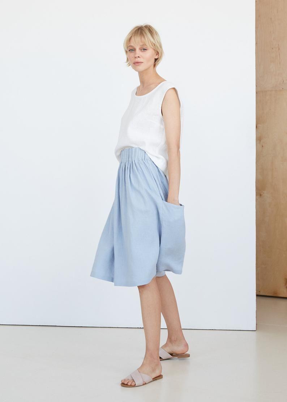 Handmade Linen Clothes,Boho Skirt,Geometric Pattern Dress Dress Linen Wrap Skirt Wrap Skirt from Natural Linen,Skirts for Women