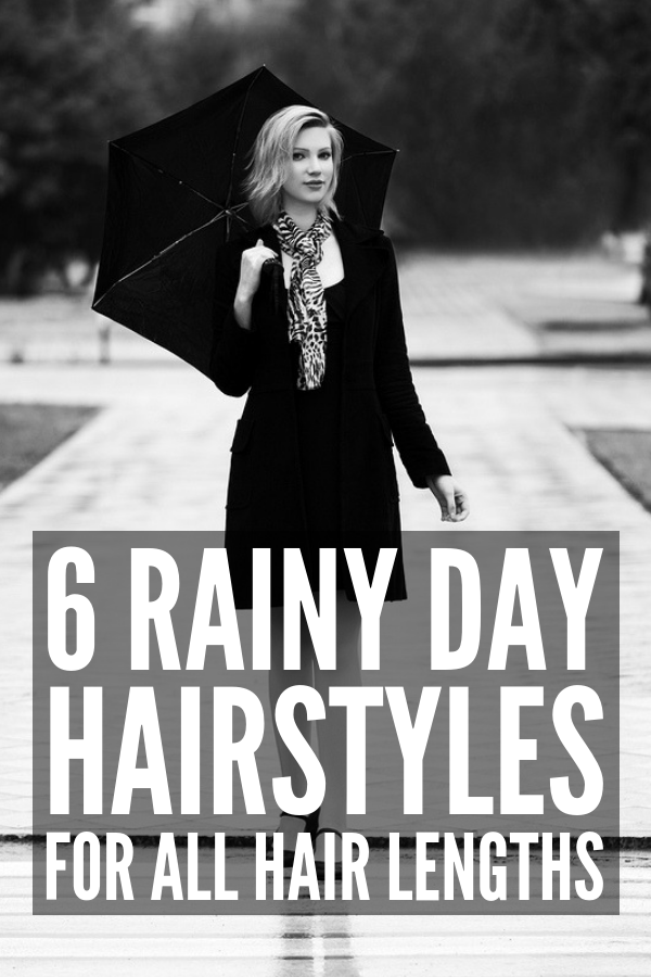 Frizzy Hair Don T Care 6 Rainy Day Hairstyles We Love Rainy Day Hairstyles Short Hair Styles Easy Frizzy Hair Solution