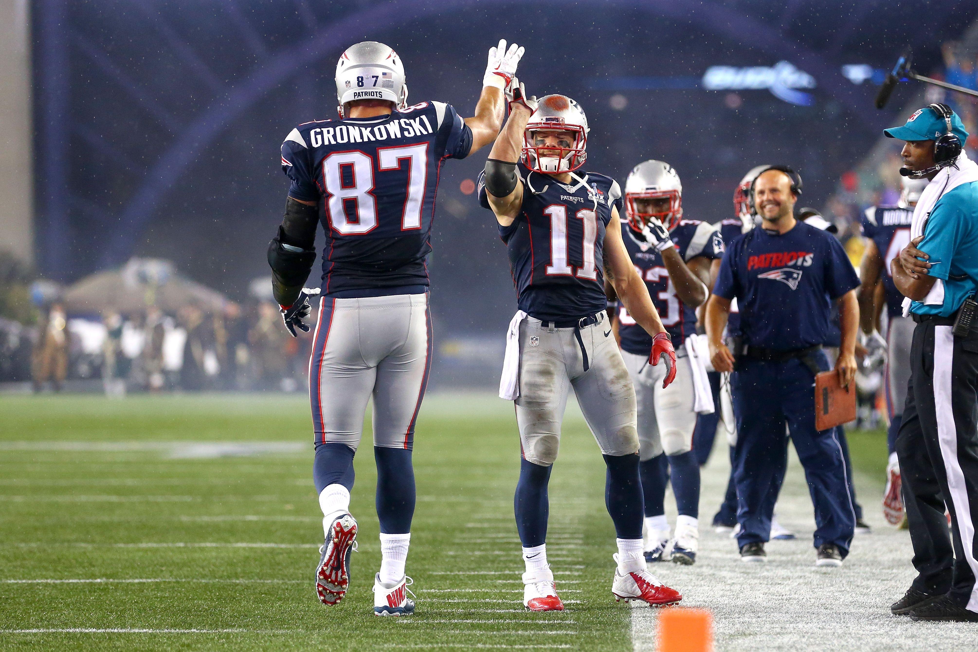 Rob Gronkowski And Julian Edelman 4020 2680 Gronkowski Julian Edelman New England Patriots