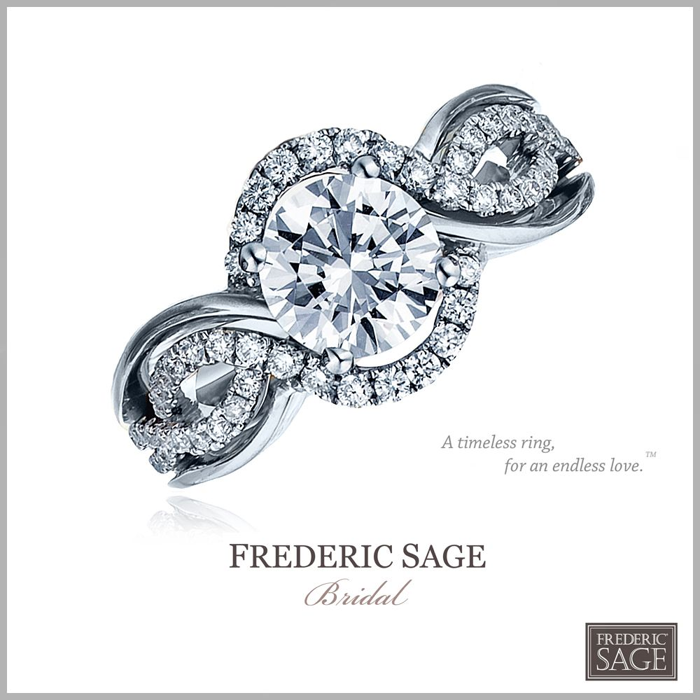 """Style RM4027-W #FredericSage Bridal Ring """"A Timeless Ring for an Endless Love"""" ~Frederic Sage"""