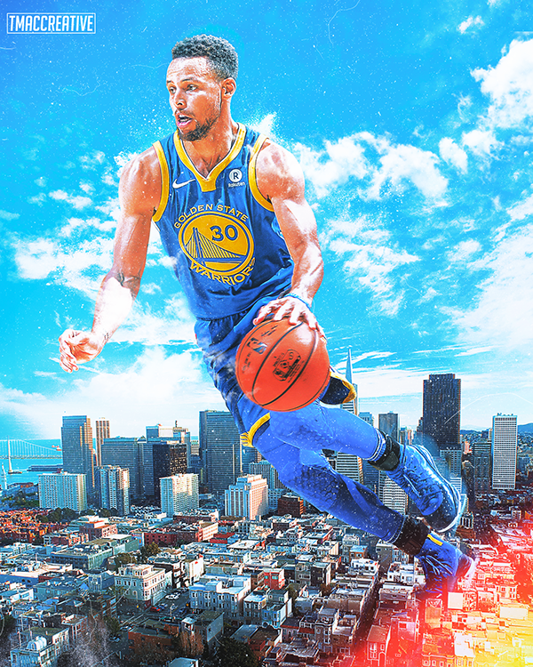 low priced c1296 6e2af Stephen Curry City Design on Behance