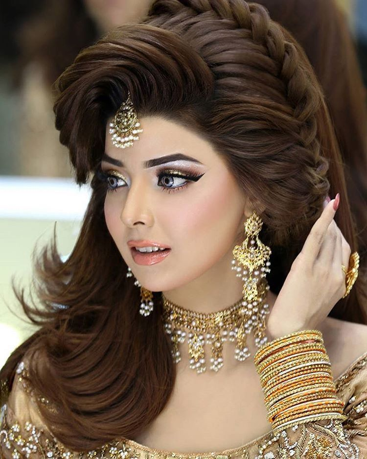 Hairstyles Pakistani Waleema: Pin By Sohail On H In 2019