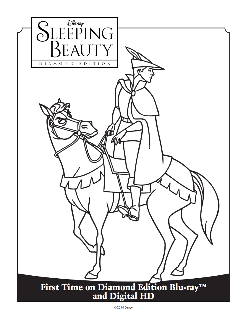 Prince Philip Coloring Sheet  Sleeping beauty maleficent