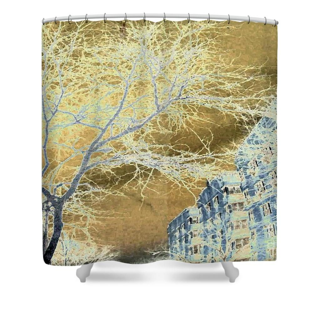November In The Heights Shower Curtain At Fineartamerica Products