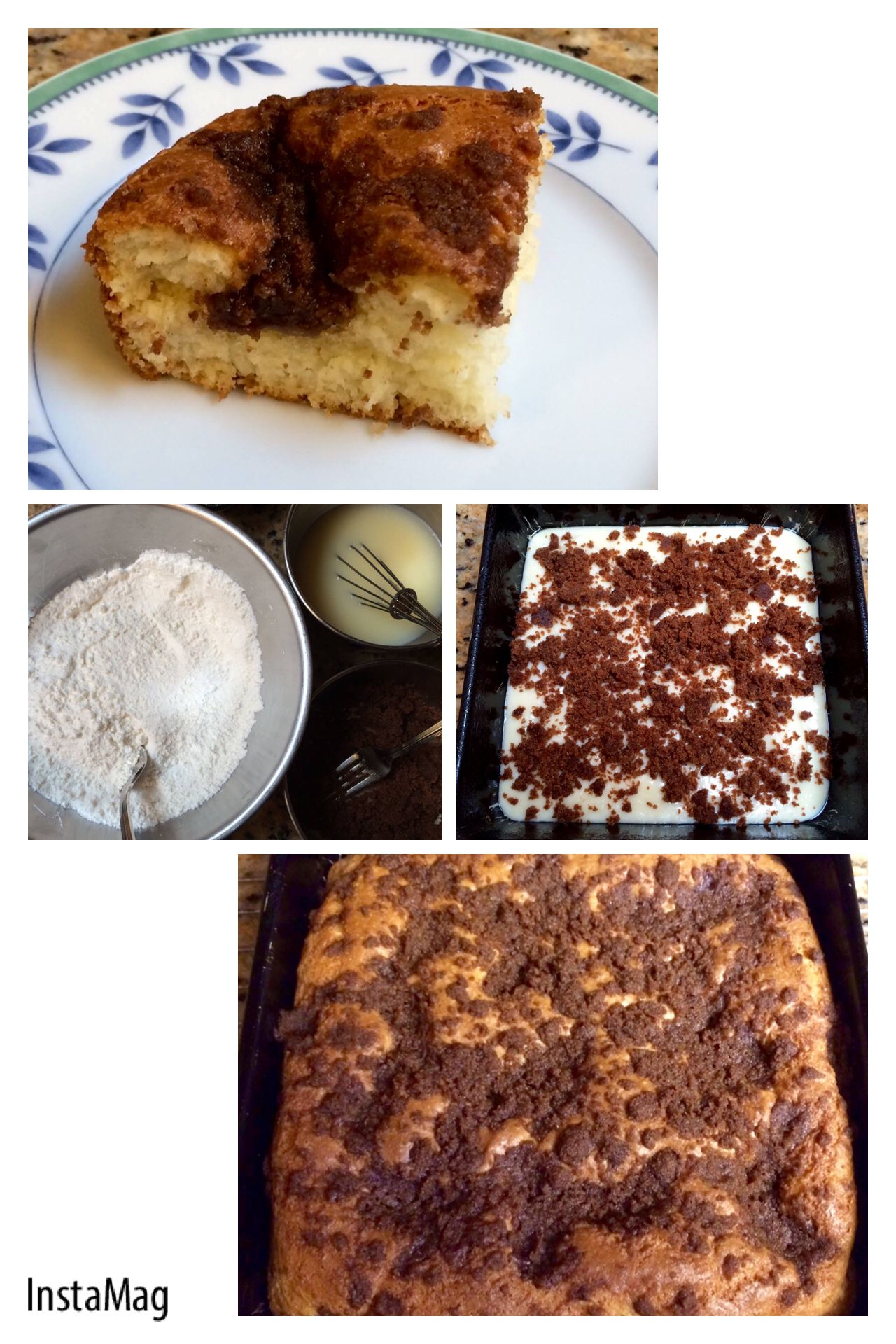A basic coffee cake made with cup 4 cup. This is probably ...
