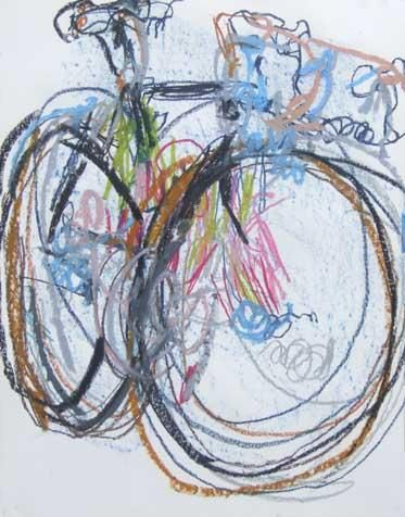 Greg S Bike Blind Drawings 1 Bicycle Paintings Prints And