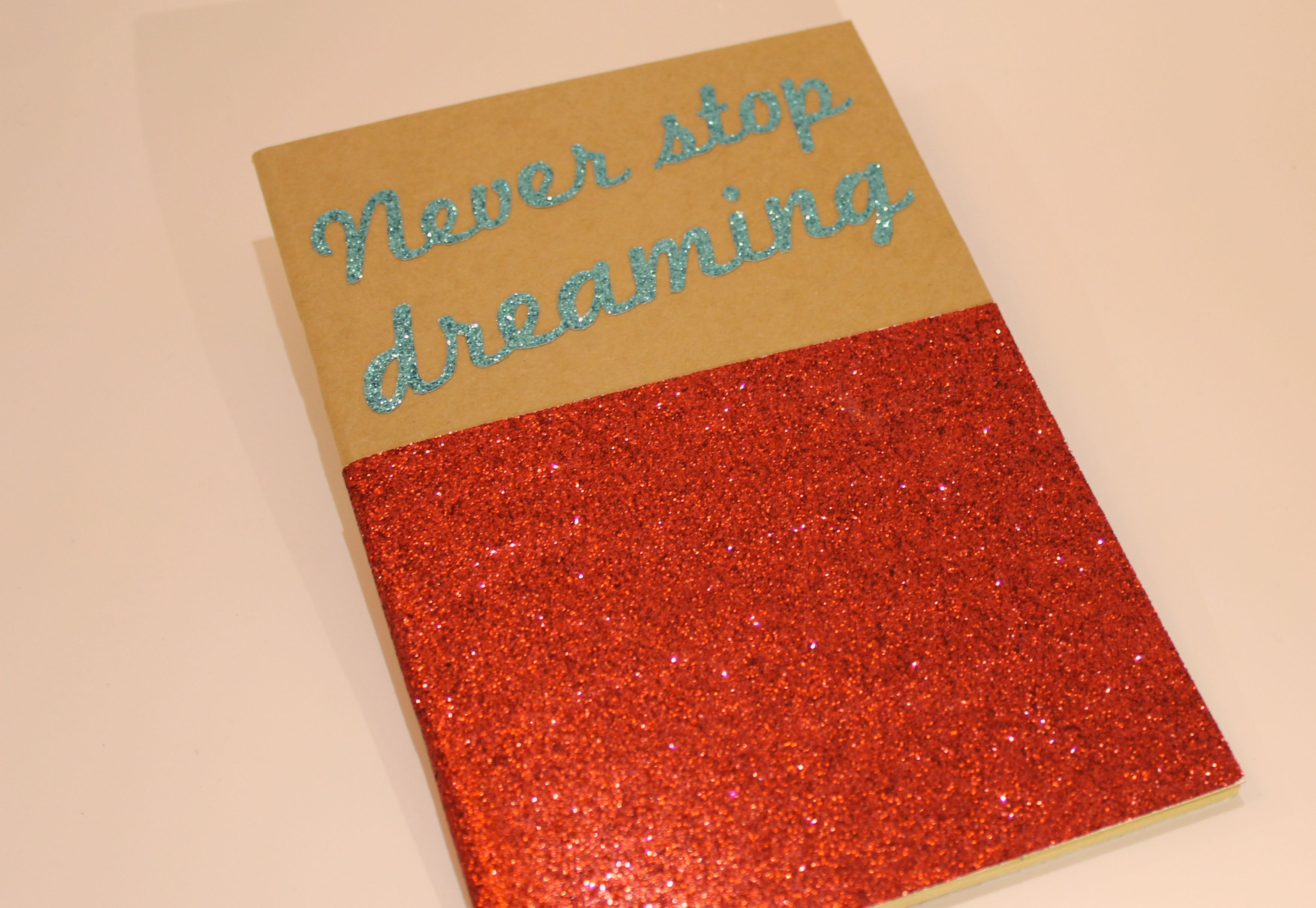 """A5 SIZE NOTEBOOK - SHINY - S/S 2015 """" Never stop dreaming""""  #TheCOOLCompany"""