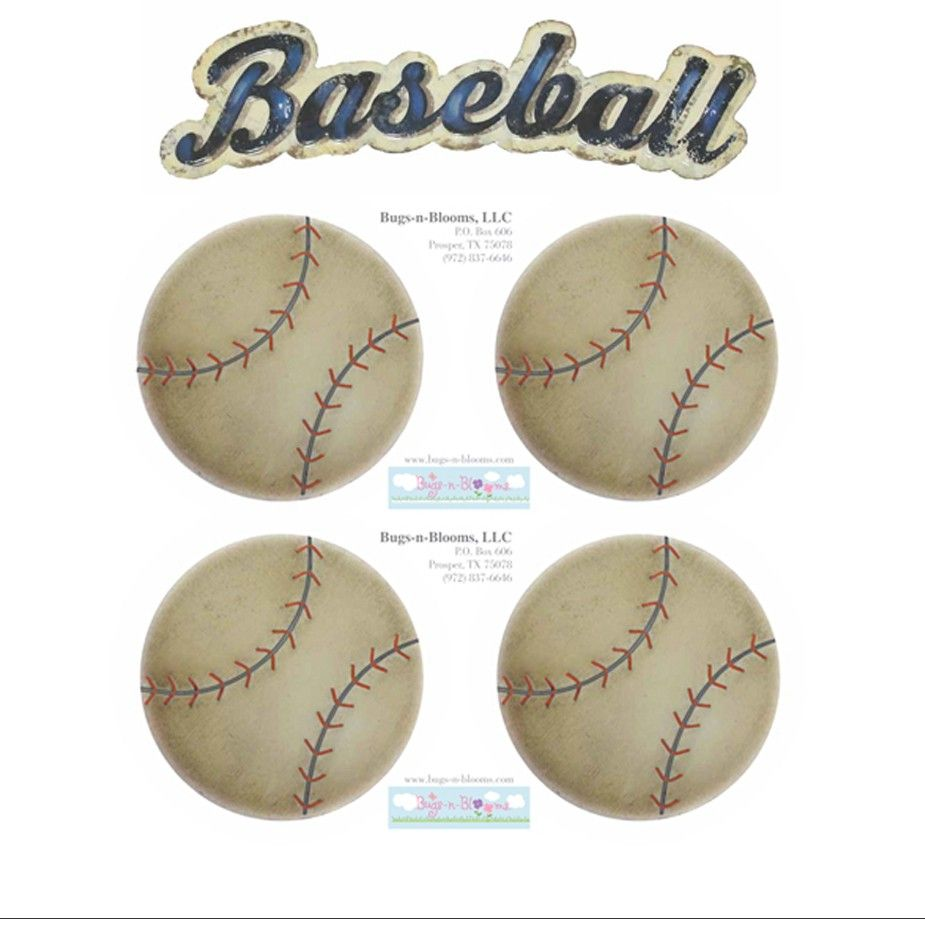 Baseball Wall Mural Removable Vinyl Stickers
