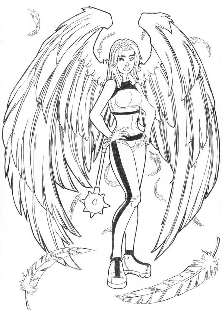 hawkgirl-coloring-pages-12.jpg (736×1054) | LineArt: Hawkworld ...