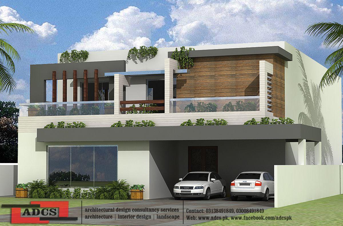 1 kanal house design modern house elevation modern for Beautiful kothi designs