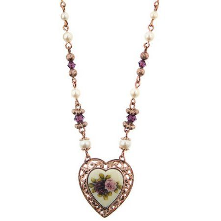 1928 Jewelry Manor House Victorian Heart Necklace Victorian and