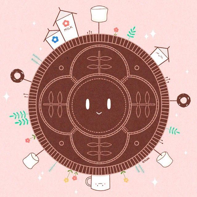 *** 우주에서 가장 달콤한 행성! (작게보긴 아까우니까 크게크게)  #illustration #illustrate #illust #drawing #draw #doodle #cookie  #dessert #planet #ssak_y #일러스트 #그림 #낙서