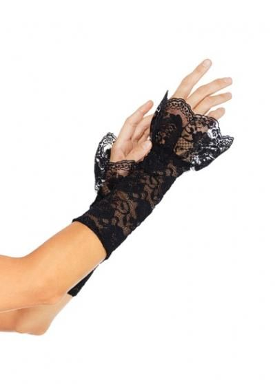Black Lace Long Cuff Armwarmers