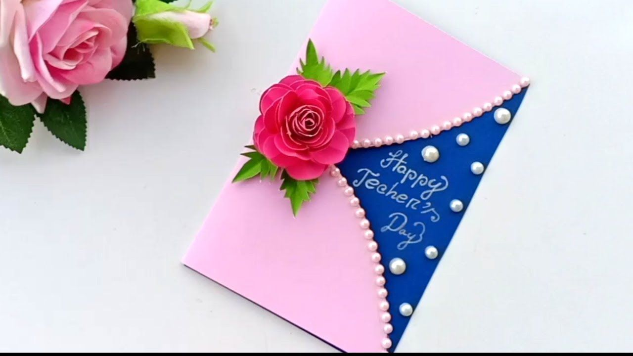 Diy Teacher S Day Card Handmade Teachers Day Card Making Idea