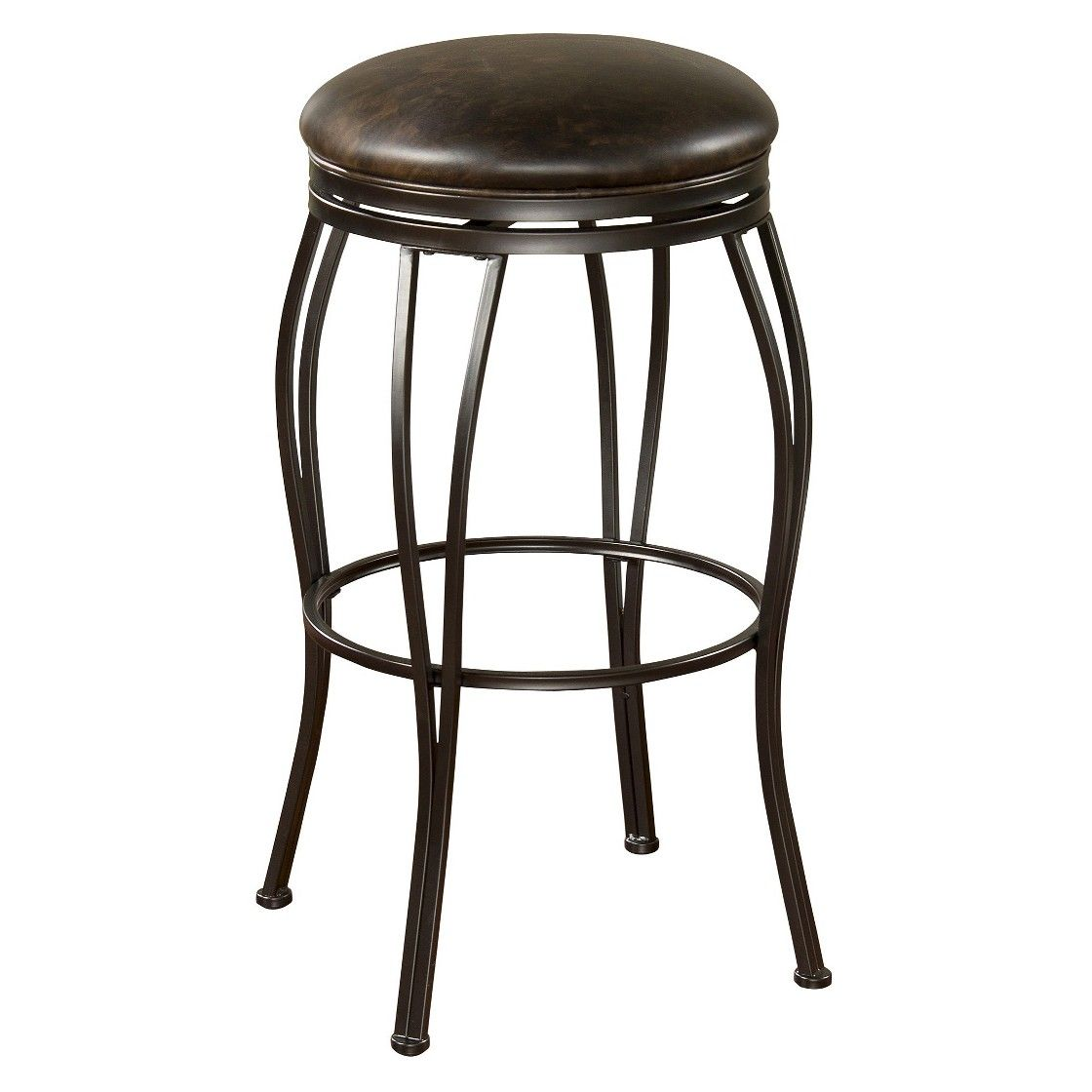 Perfect AHB Romano Swivel Counter Stool   Coco With Tobacco Bonded Leather   A  Blend Of Casual And Elegant, The AHB 24 In. Romano Swivel Counter Stool    Coco With ...