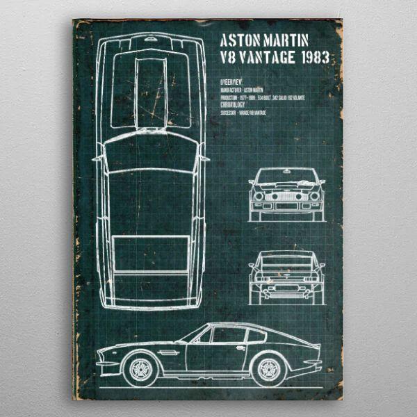 Aston Martin v8 vantage by FARKI15 DESIGN | metal posters - Displate | Displate thumbnail