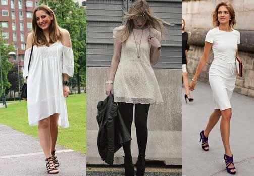 Vestido Blanco Y Zapatos Como Combinar Ropa Combinar