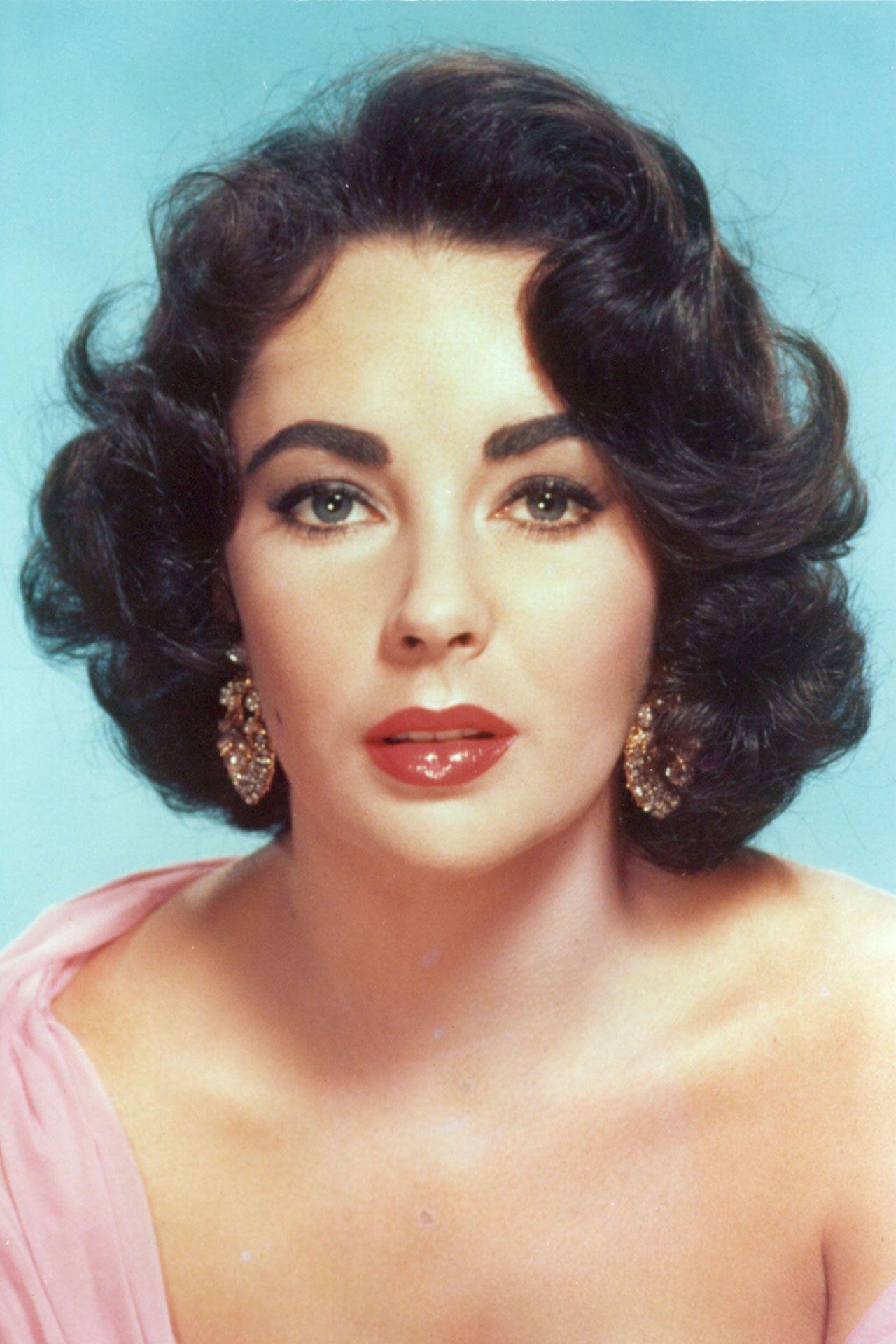 100 definitive hairstyles | elizabeth taylor | 1950s makeup