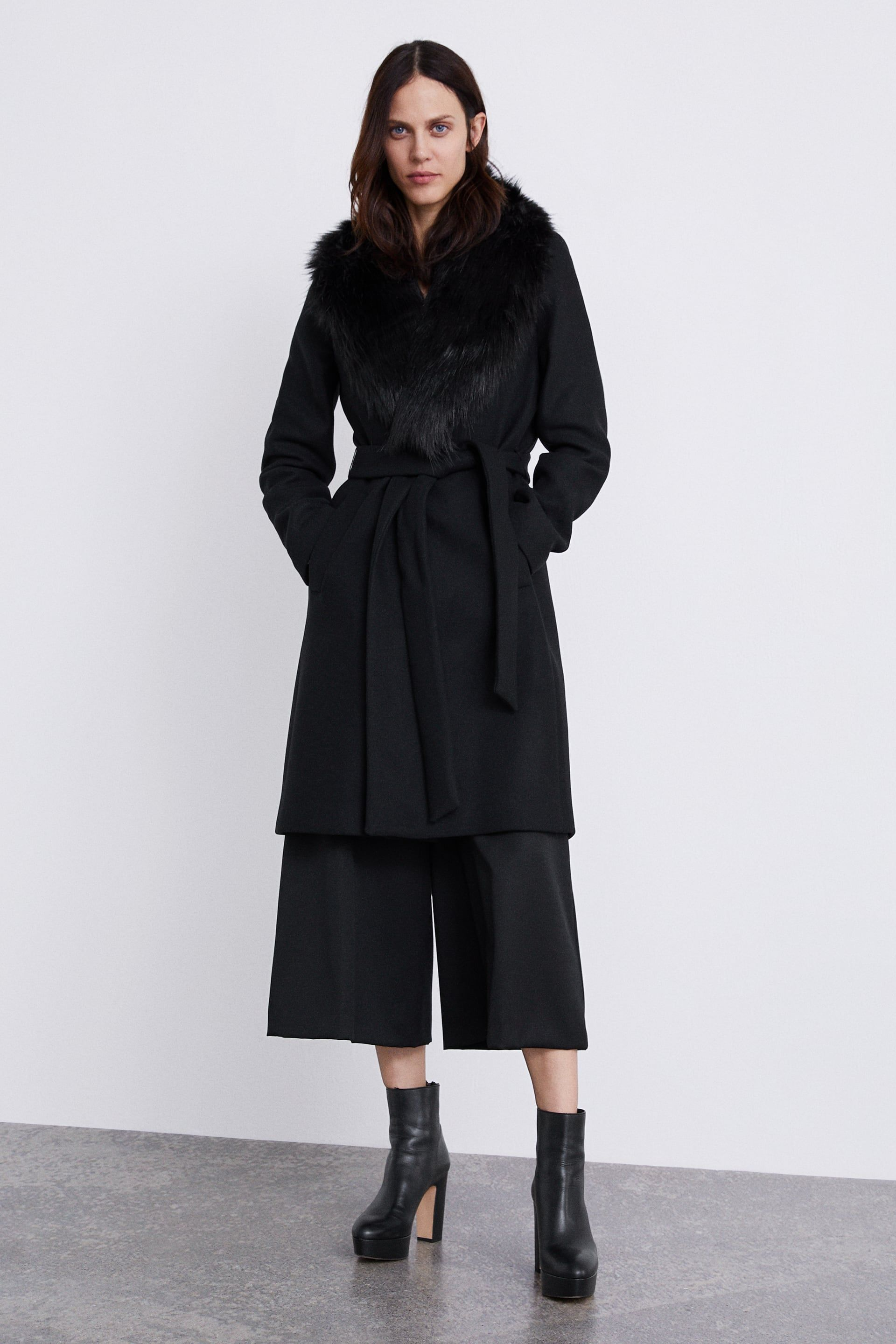 3bc9b51d Image 1 of COAT WITH FAUX FUR COLLAR from Zara | Fashion is the new ...
