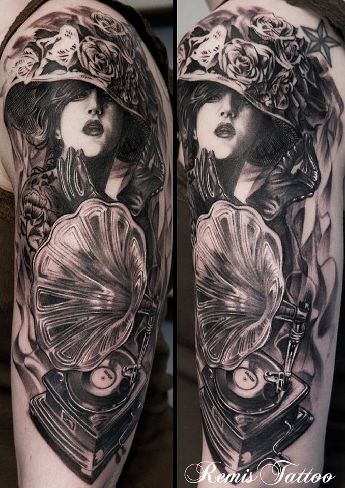 Black And Grey Portrait Tattoo By Remis Remistattoo Realism Realistic Tattoo Black And Grey Tattoo Ideas Realistic Tattoo Sleeve Portrait Tattoo Tattoos
