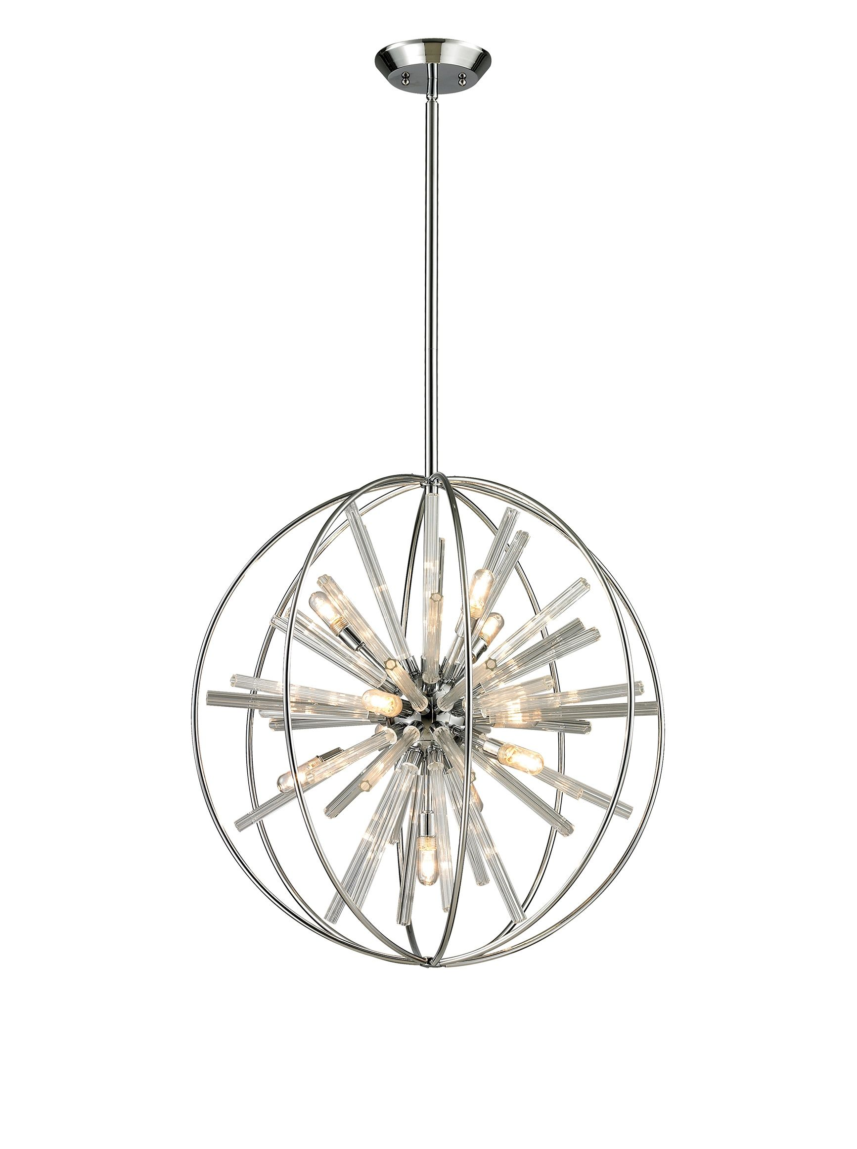 artistic lighting twilight collection 10 light pendant polished