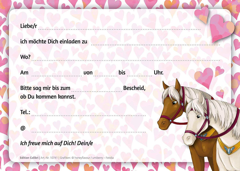 Einladungskarten Geburtstag Kostenlos Pferdeeinladung