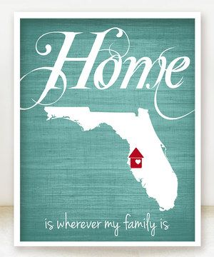 Loving this Ocean 'Home Is Wherever My Family Is' State Personalized Print on #zulily! #zulilyfinds
