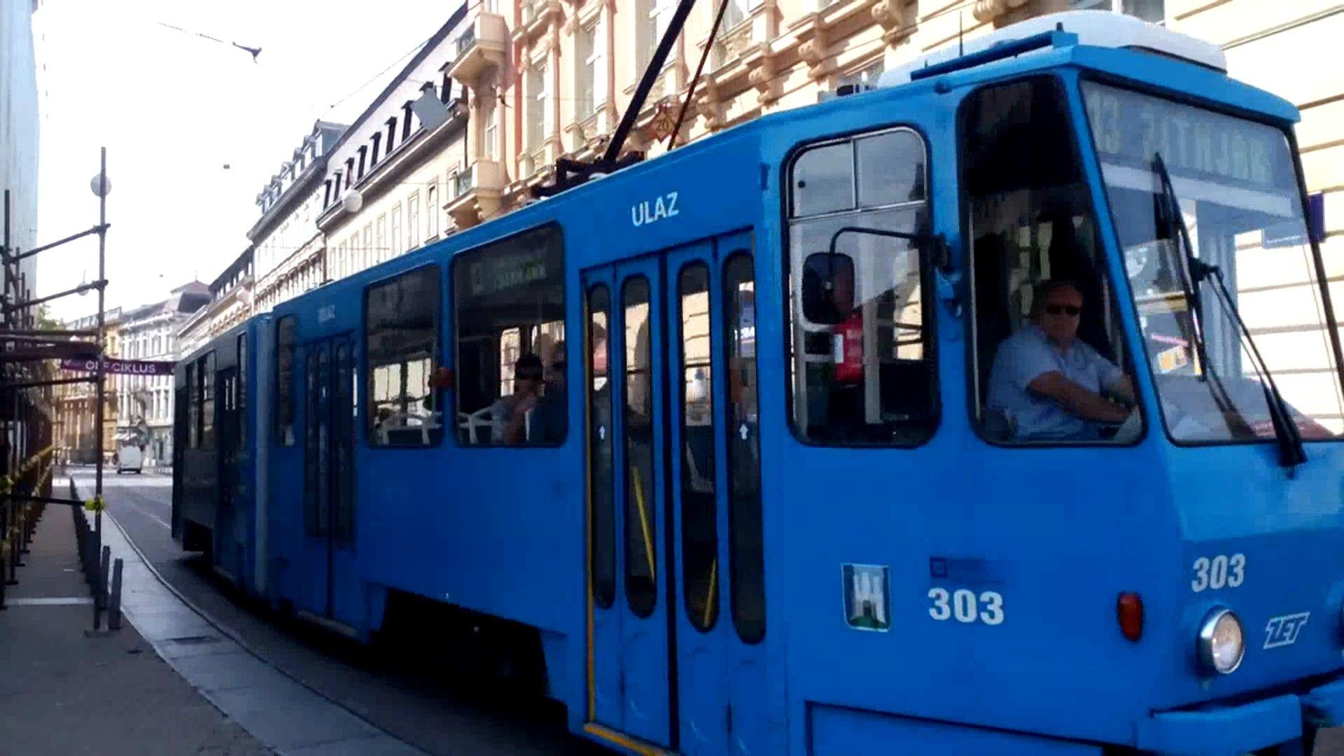 Zet Zagreb Tram Ckd Kt4yu Zagreb Train Bus
