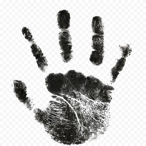 Hd Black Baby Realistic Hand Print Png Print Realistic Black Babies