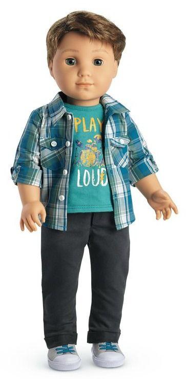 Friends Book Logan American Girl # 74 Truly Me Blond Hair Blue Eyes BOY DOLL