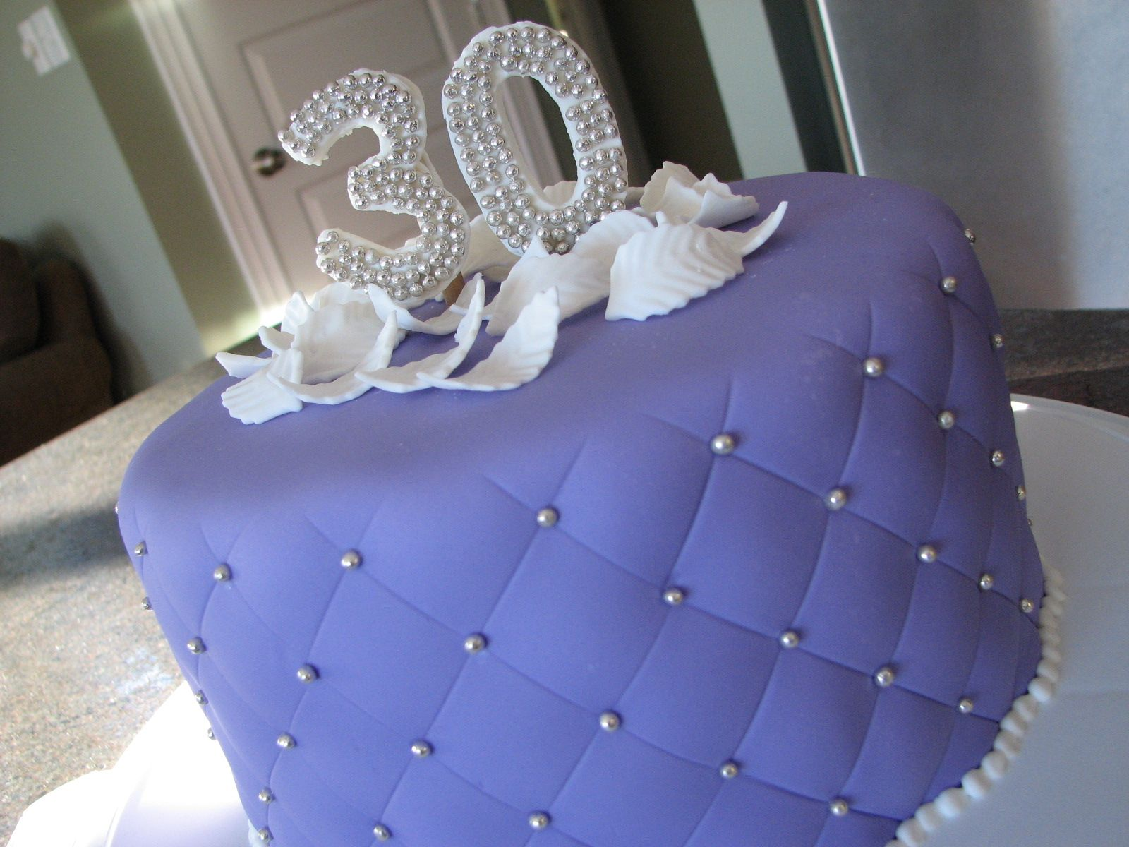 Purple 30th Birthday Birthday Cakes Purple Cakes Birthday 30th Birthday Cake For Her 30 Birthday Cake