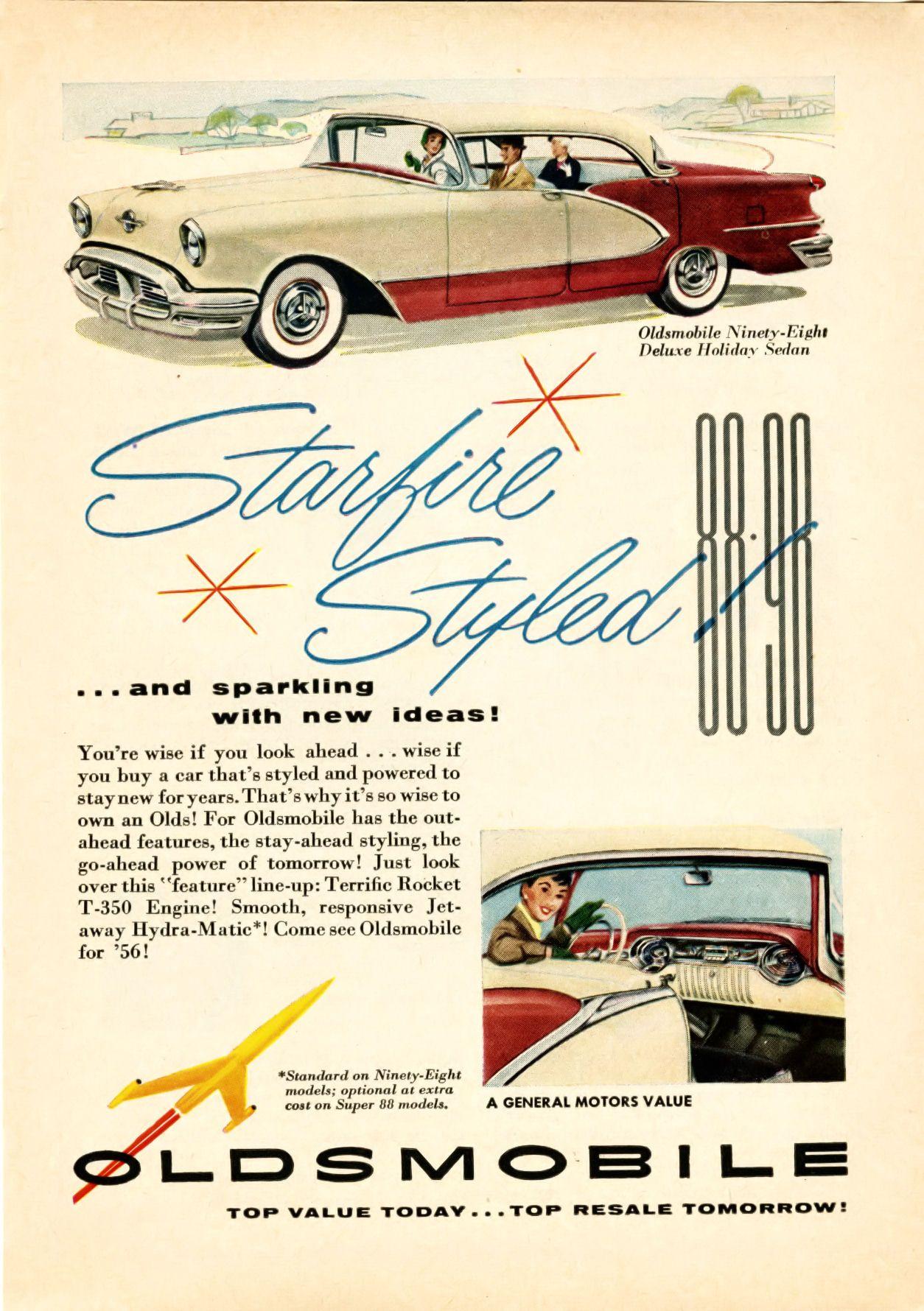 1956 Oldsmobile Ad-01   Vintage GM   Pinterest   Sedans, Ads and Cars