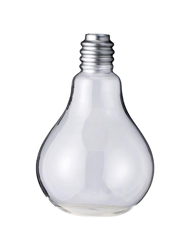 kopi av den populære serax lyspærevasen, til en rimeligere penge.   design: bloomingville  motiv: lyspære  farge: glass  materiale: klart glass  mål: dia6xh10cm