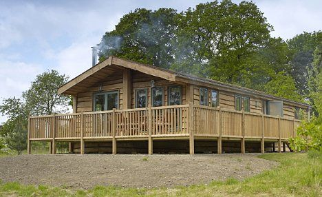 Eco-lodge: The temporary park home has had a sophisticated makeover