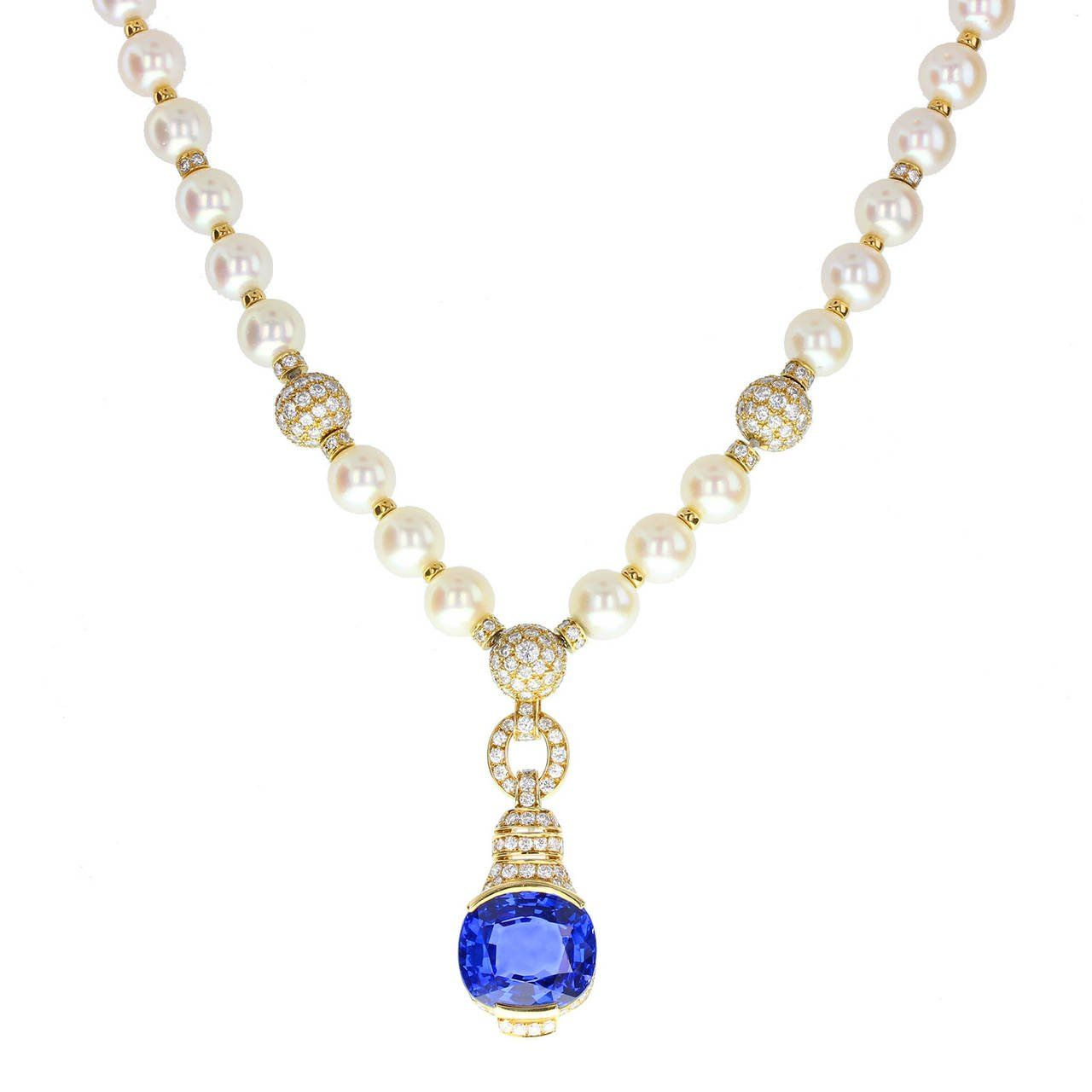 with collection south necklace betteridge clasp sea pearl sapphire p pearls diamond estate