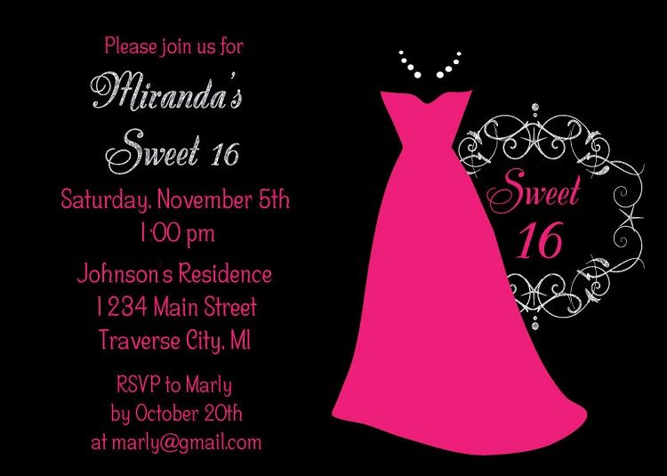 Sweet 16 Birthday Invitations Online