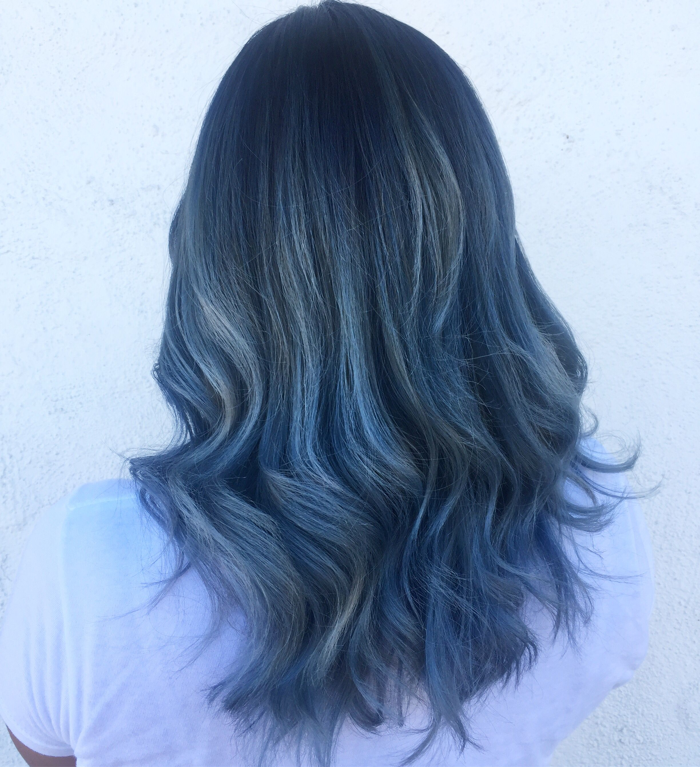 Blue Gray Hair Toned With Schwarzkopf With Images Blue Grey