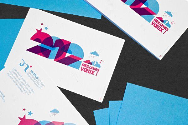 Connu Carte de vœux 2012 | Brand identity | Pinterest | Carte de voeux  KY89