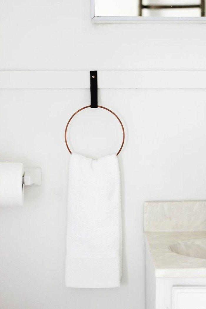 Le porte serviette en 40 photos d\u0027idées pour votre salle de bain