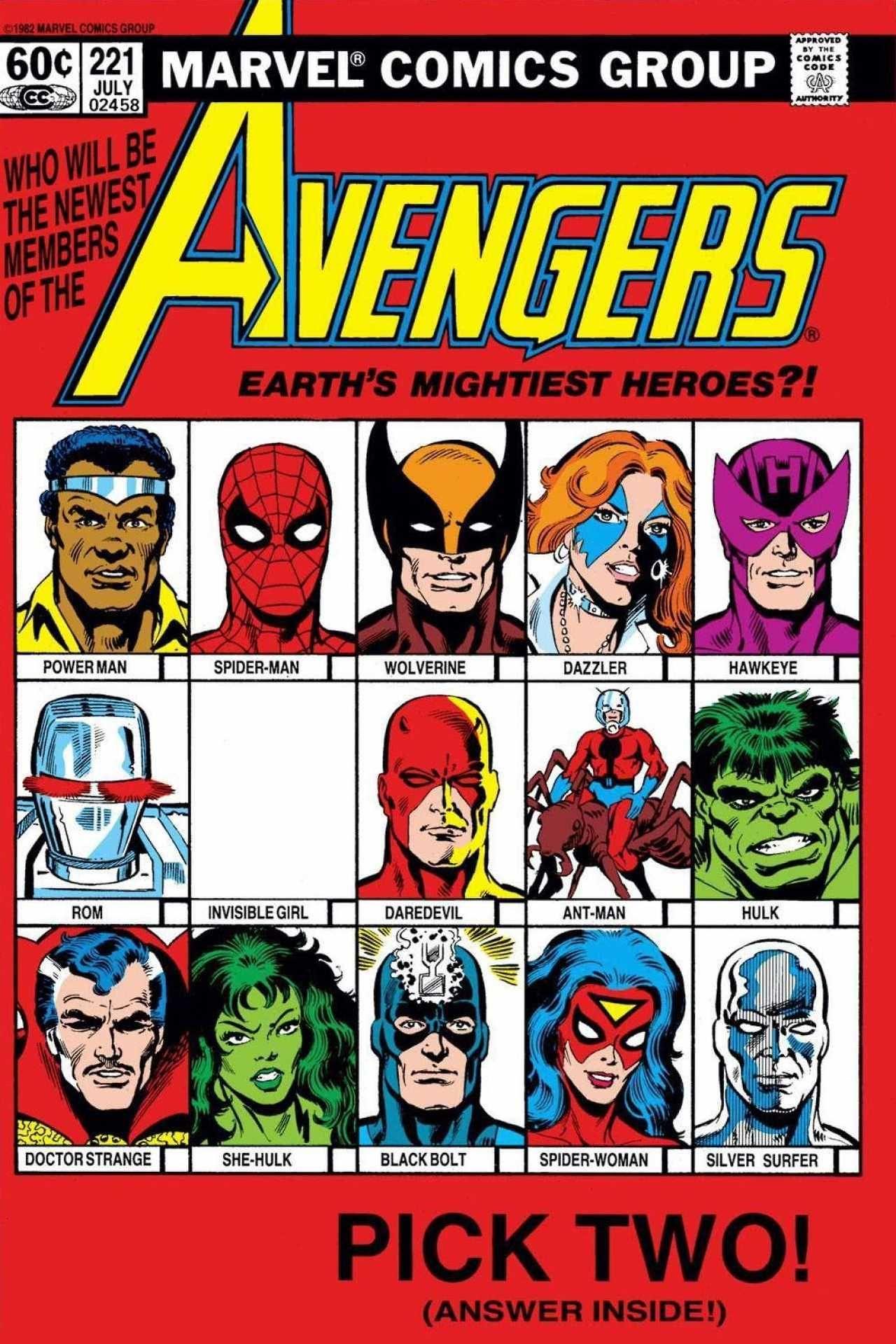 Classic Avengers Comic