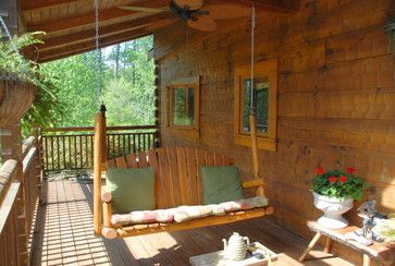 BEAUTIFUL LOG ROOMS | Beautiful Log Home Retreat on Lake Greenwood SC traditional porch