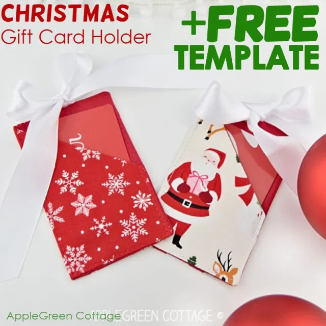 Christmas Gift Card Holder Free Template Applegreen Cottage Gift Card Holder Template Christmas Gift Card Holders Free Gift Card Holder