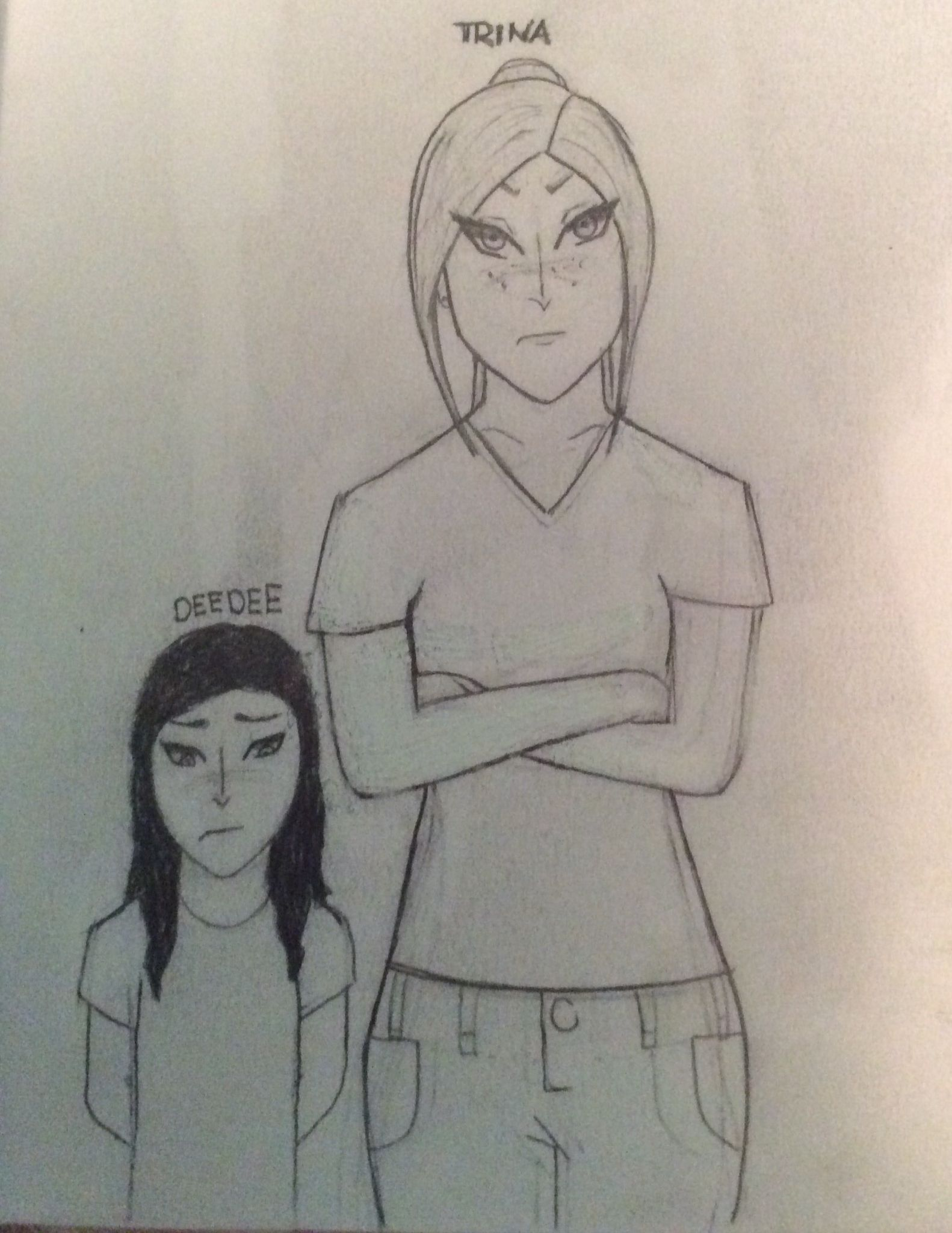 Heres a little drawing of trina and deedee from the maze